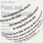 MORTON FELDMAN - PIANO AND STRING QUARTET (1985)